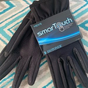 Isotoner black gloves men's sz M touchscreen